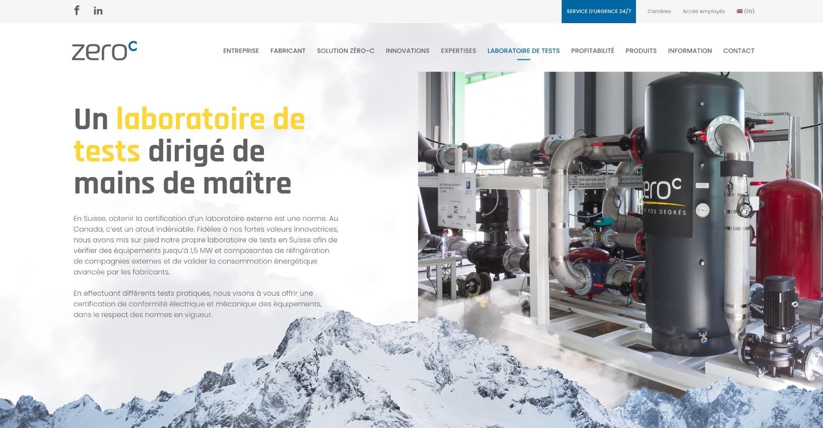 Design Web | Branche ADN en glace | Architecture de site Web