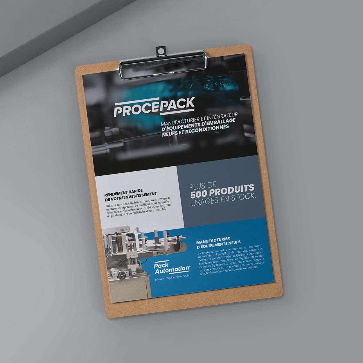 Design graphique | Feuillet corporatif HR Procepack