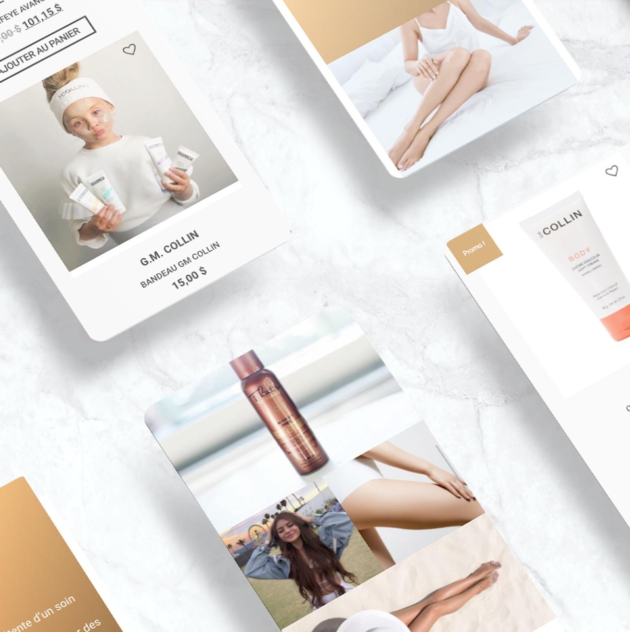 Boutique sur mobile | Solution adaptée | Design pour smartphone