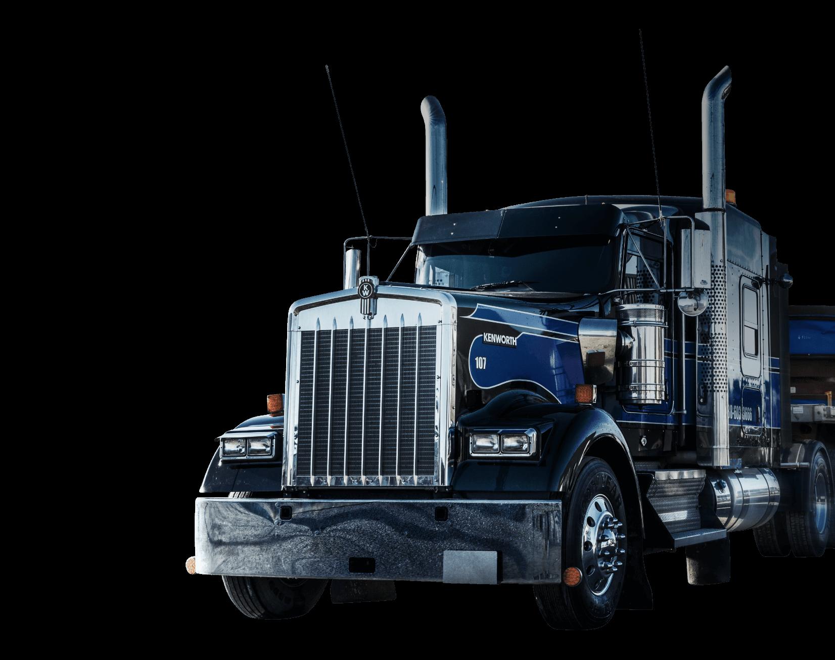 Camion détouré | Entreprise de transport | Réalisation Web