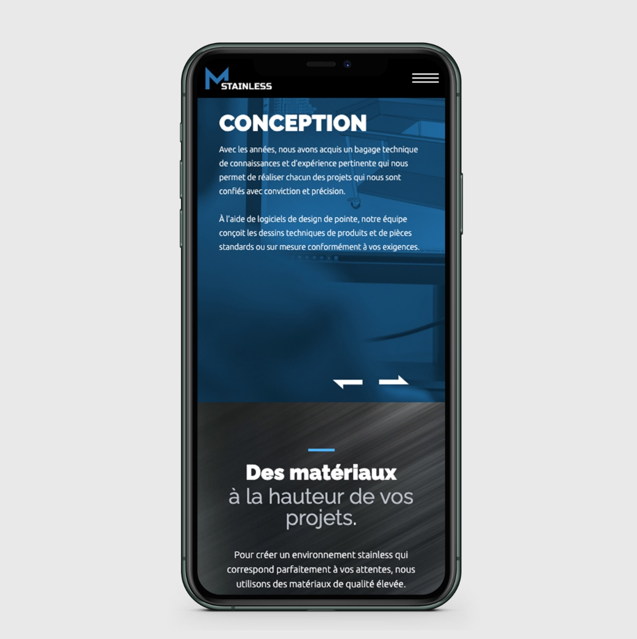 Carrousel mobile | Adaptation de site sur mobile | UX responsive