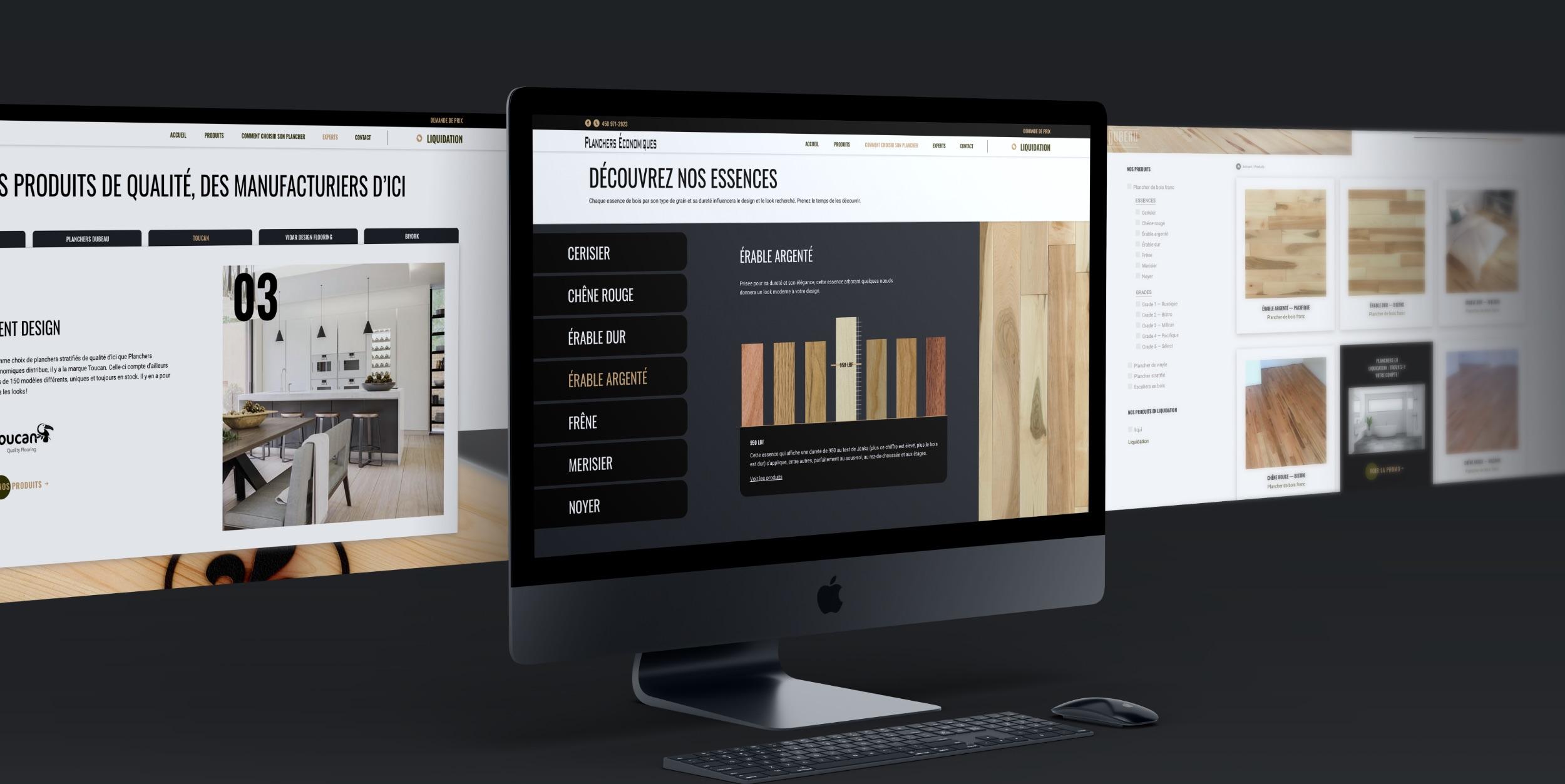 Catalogue numérique moderne | Grille de produits | Bois