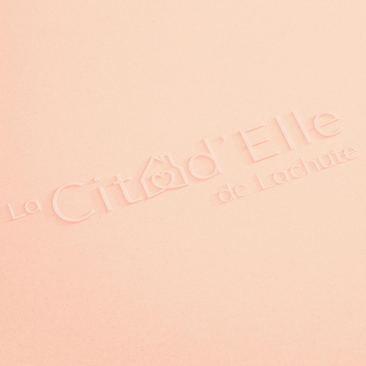 Logo féminin   Typographique linéaire   Citad'Elle de Lachute