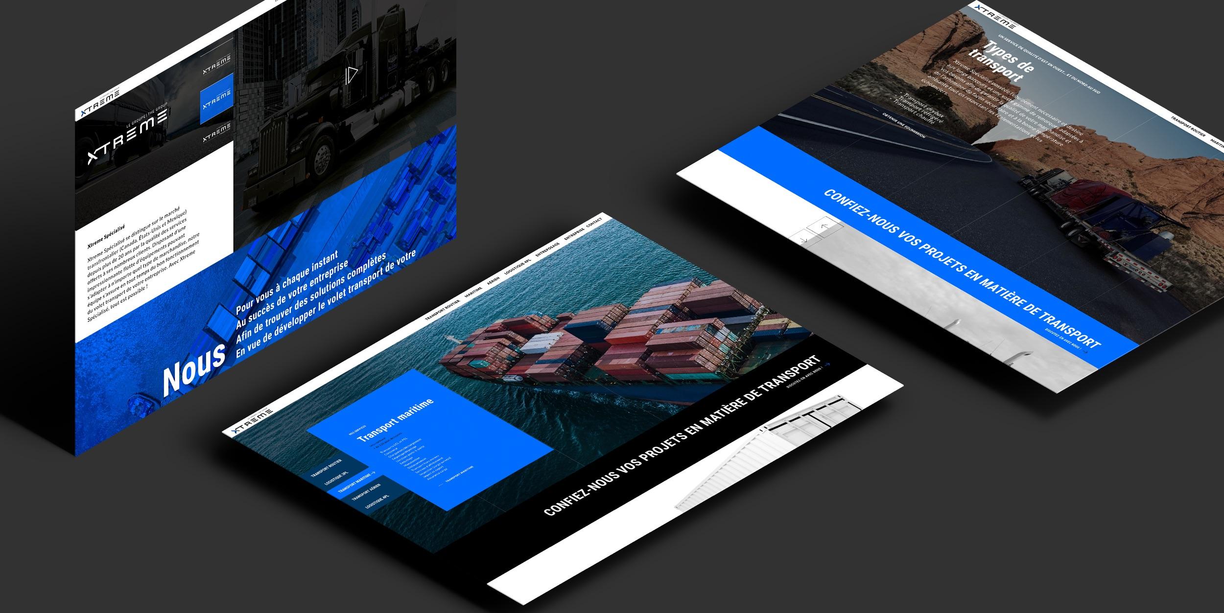 Concept de site Web | Expérience numérique | Design visuel