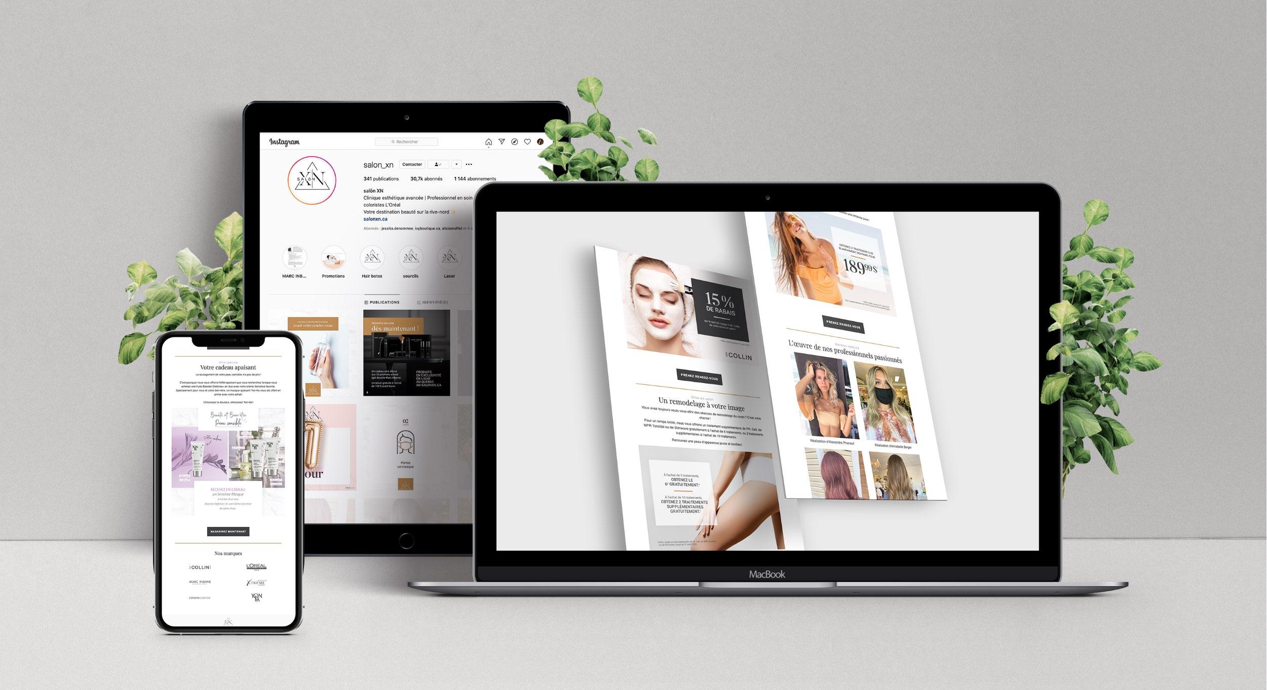 Conception de contenu numérique | Infolettre | Réseaux sociaux