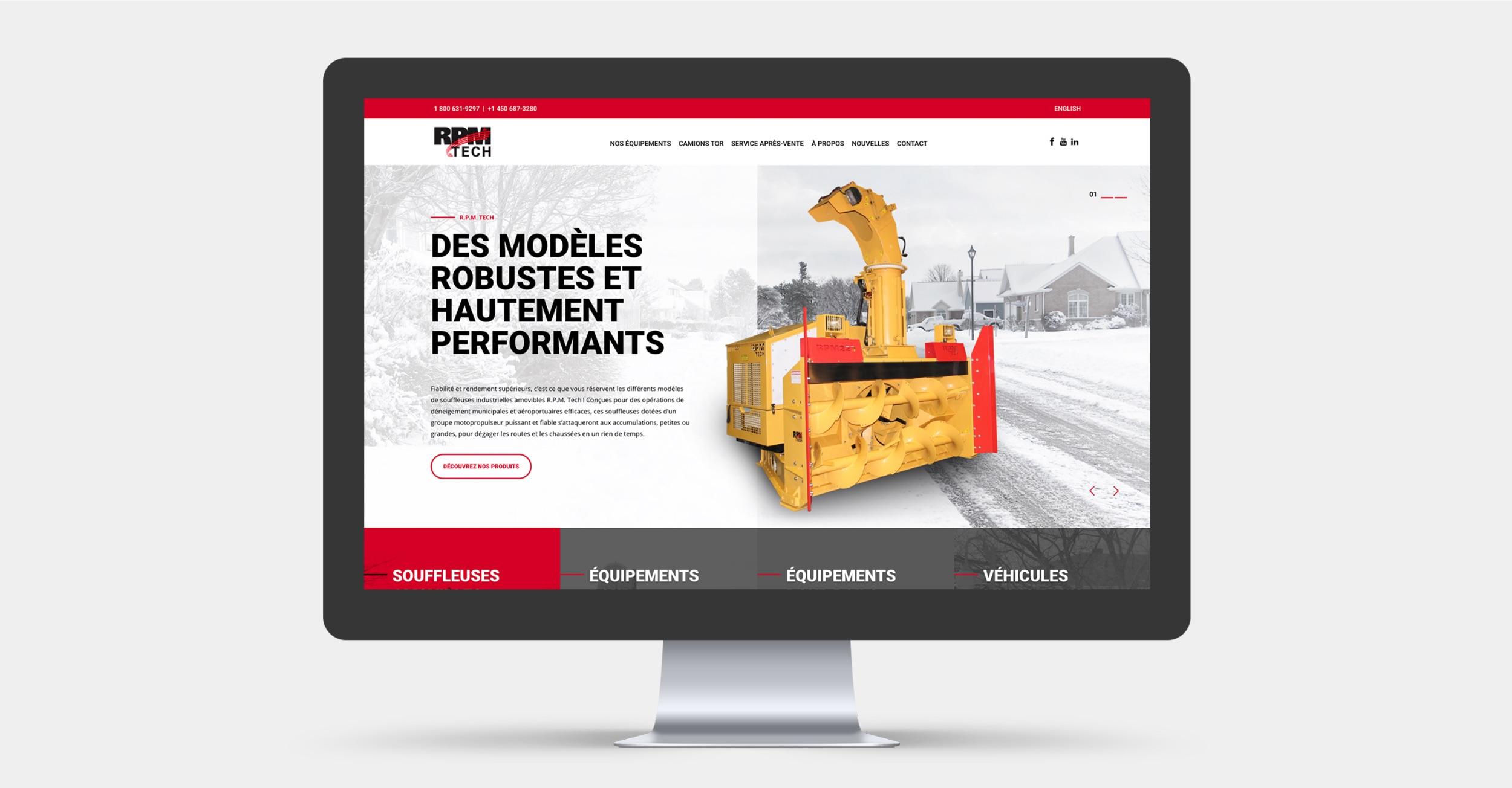 Conception de site Web | Marché international | RPM Tech