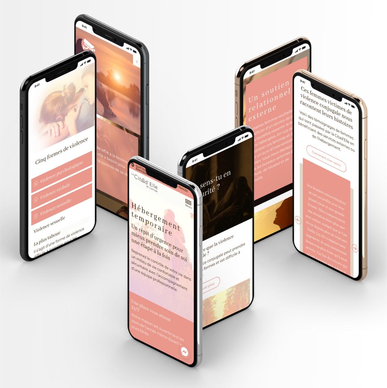 Conception réactive   Navigation sur smartphone   Site Web