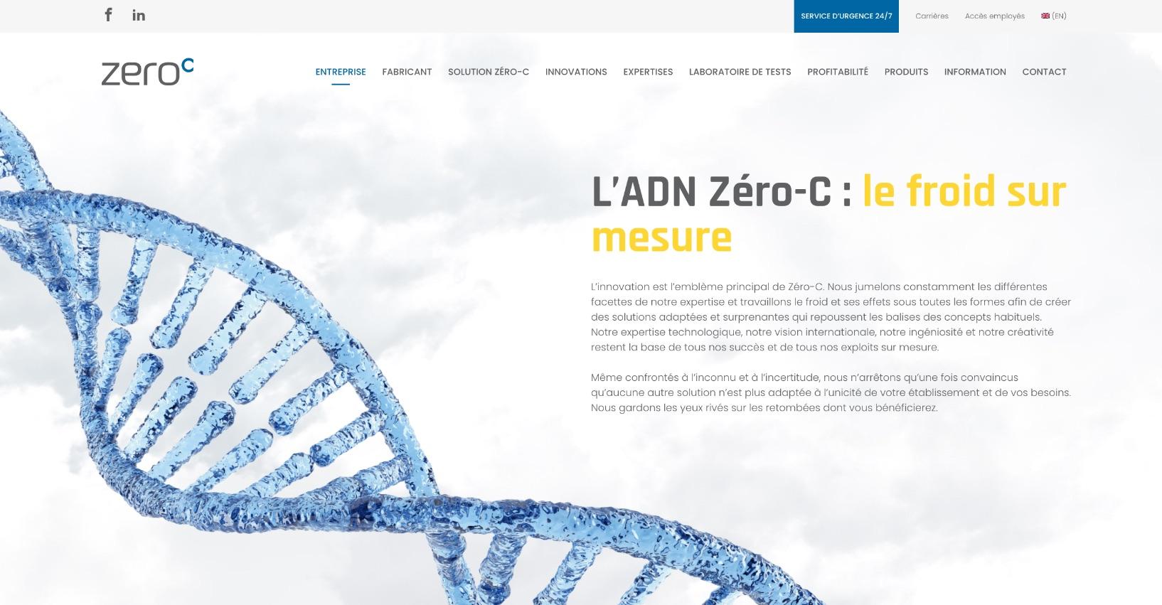Conceptualisation Web | Structure visuelle avancée | Zero-C