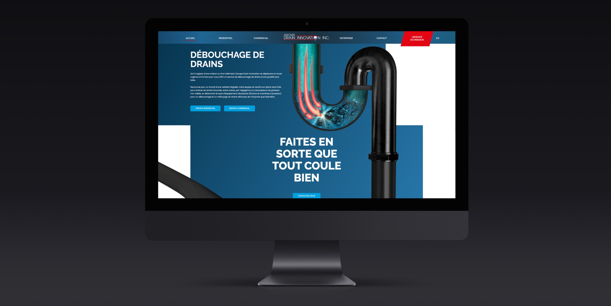 Solution Web rapide | Schéma visuel | Design moderne