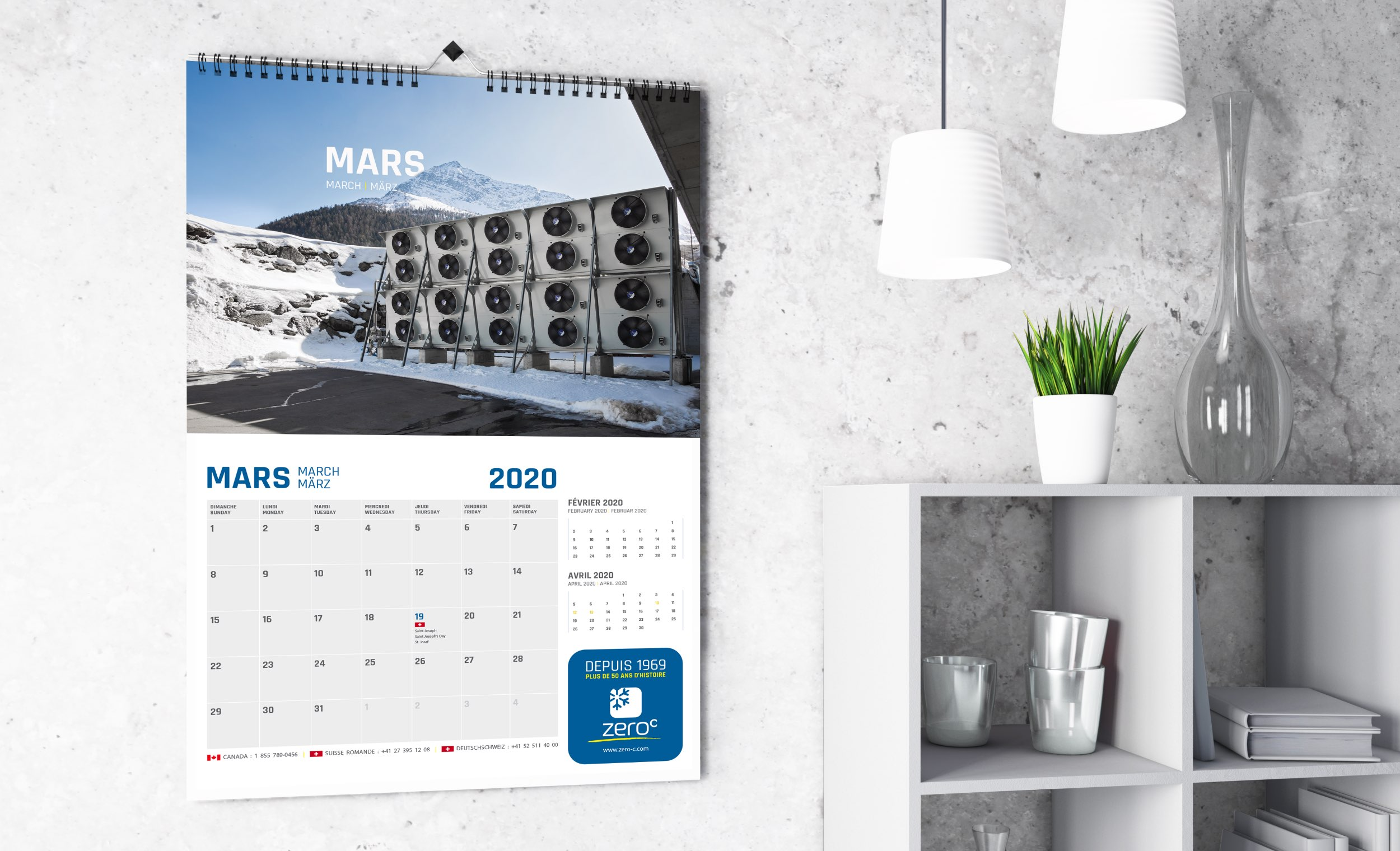 Design graphique | Calendrier multilingue | Production de contenu