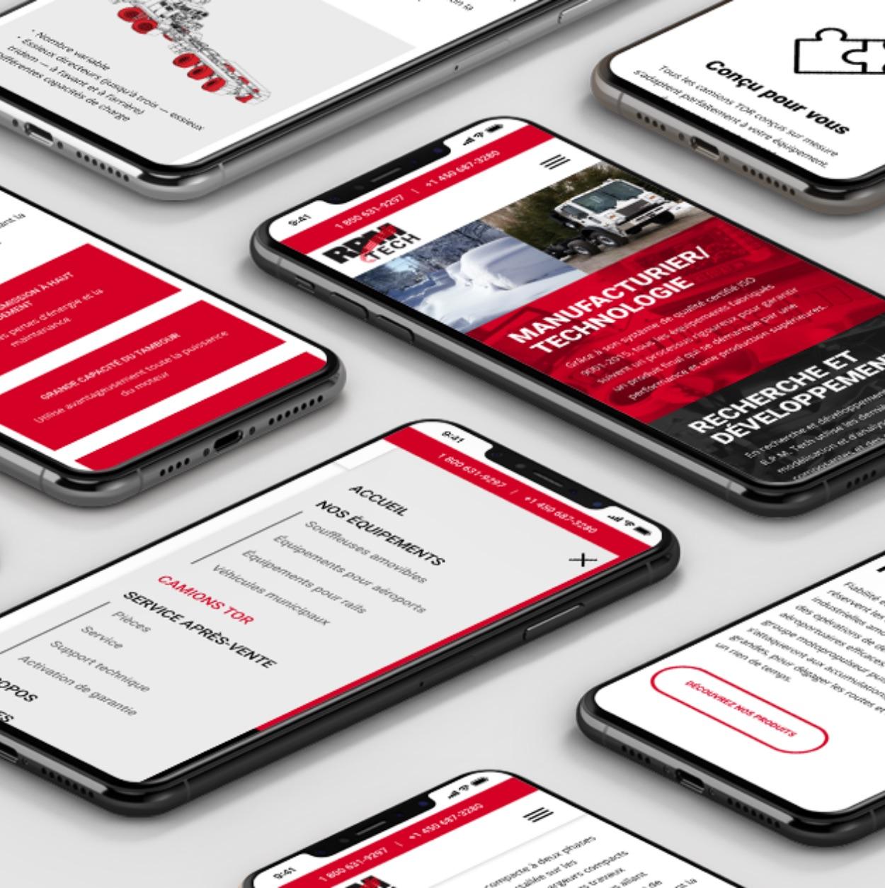 Design réactif | Concept Web | Performance de site Web