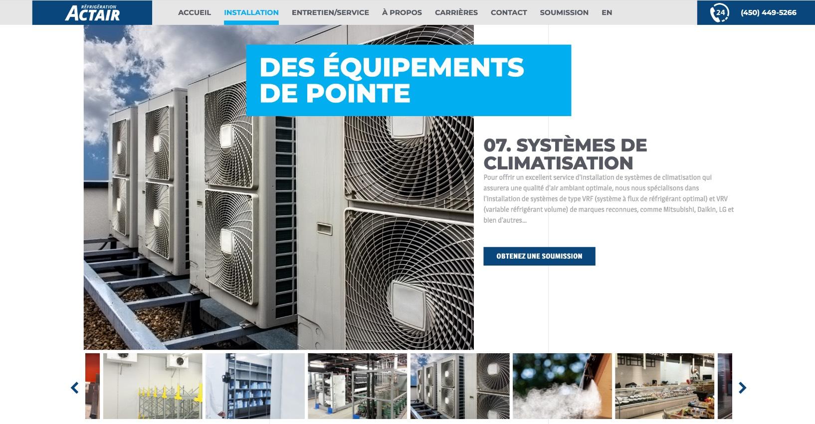 Design Web | Carrousel photos d'équipement | Thumbnail