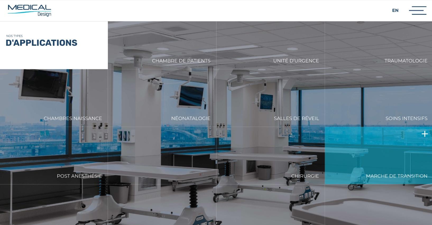 Design Web | Grille de services | Hover | Redirection stratégique