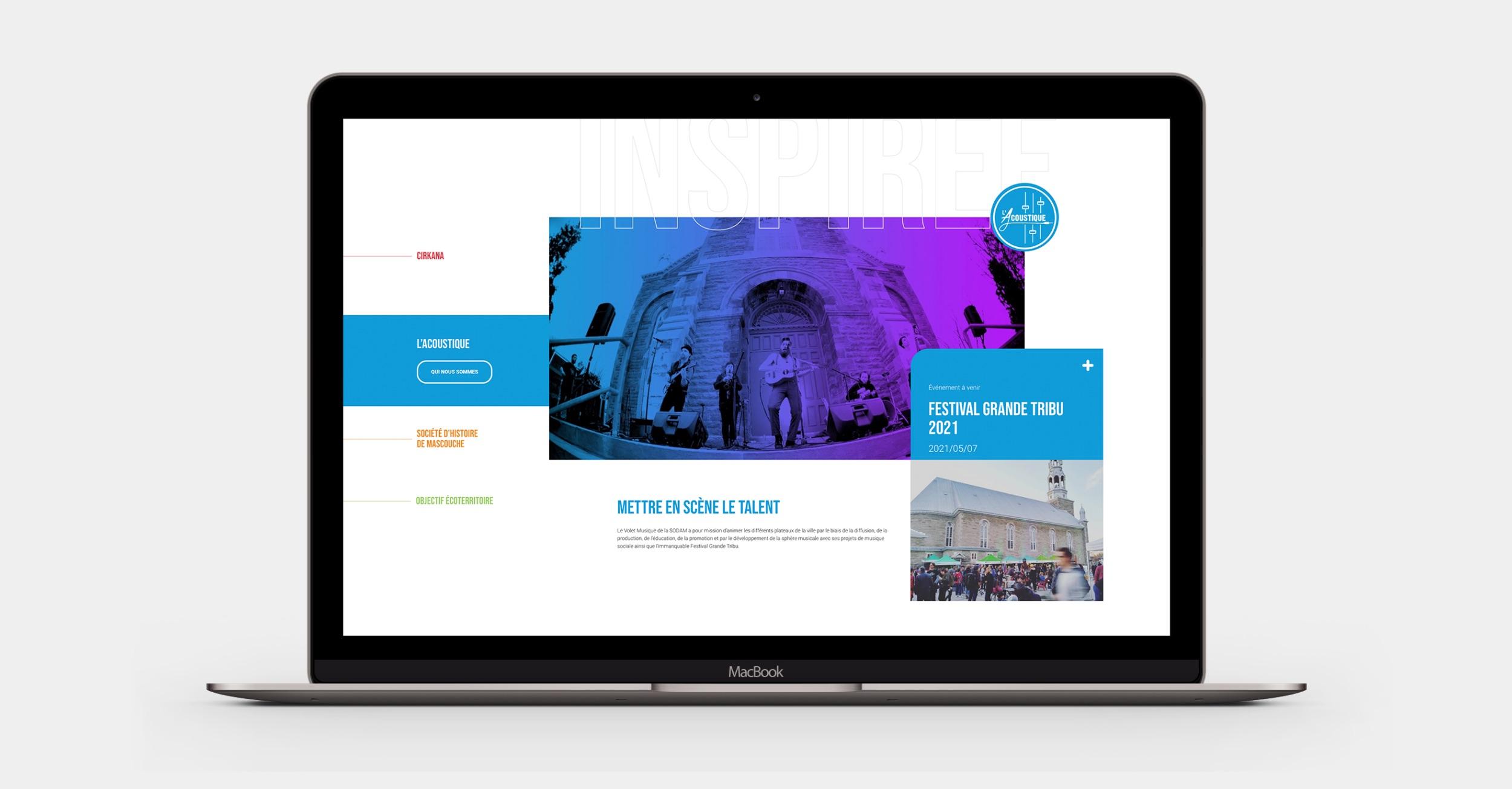 Développement culturel en ligne | Site pour OBNL | Onglets