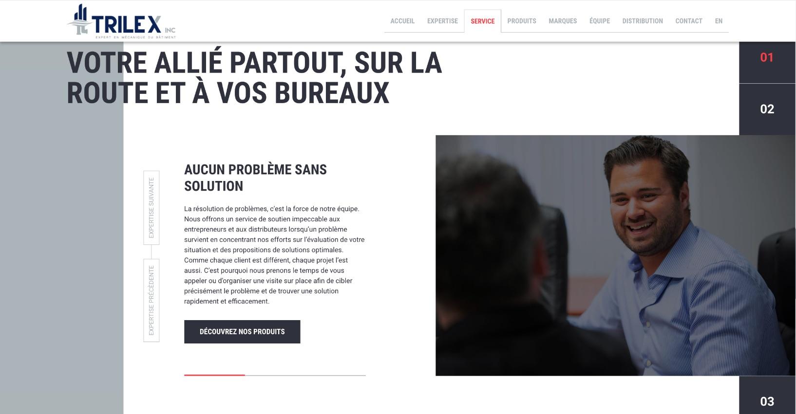 Fonctionnalités Web | Design industriel | Carrousel à onglets