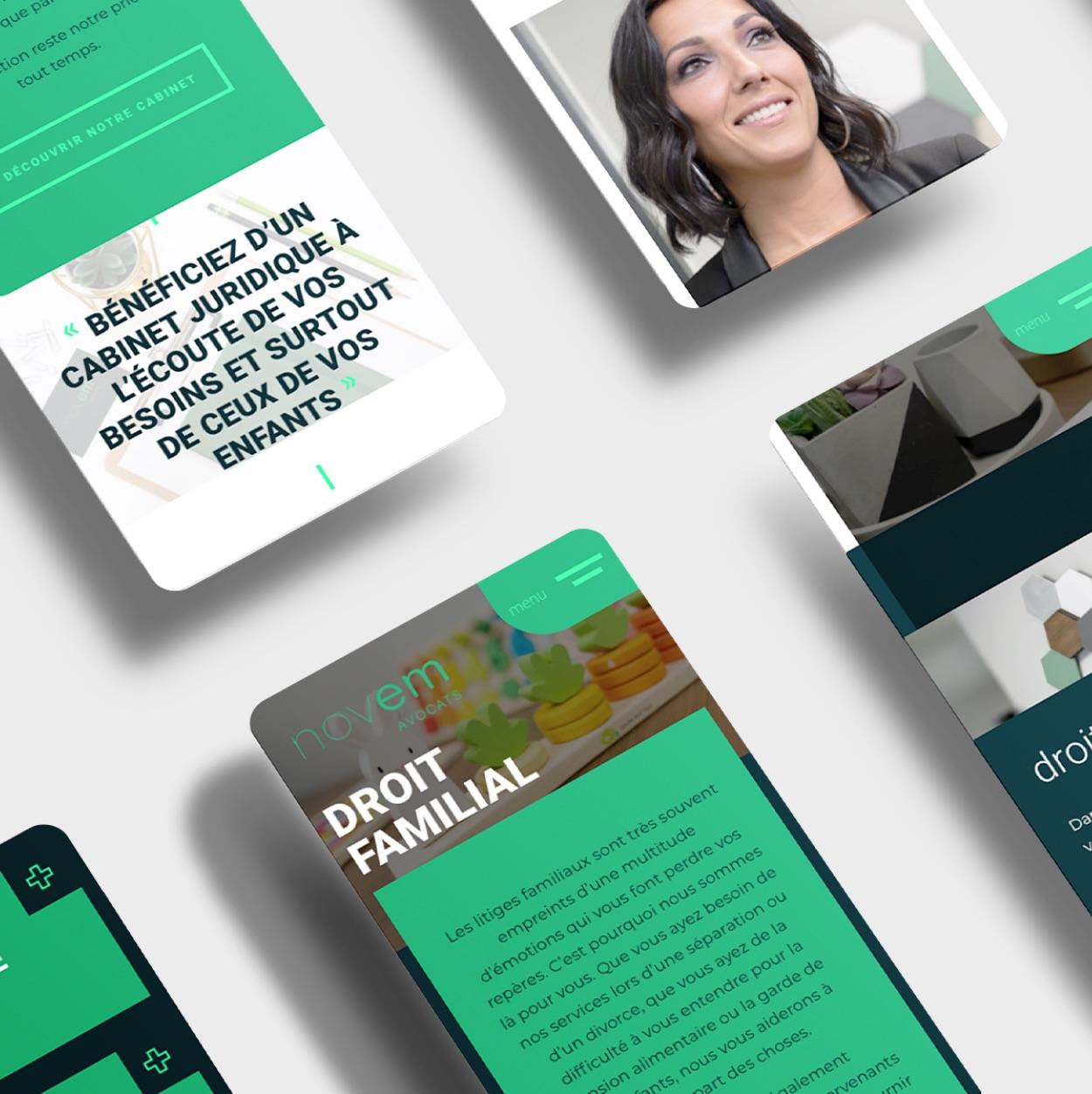 Information juridique | Accès sur téléphone | Design responsive