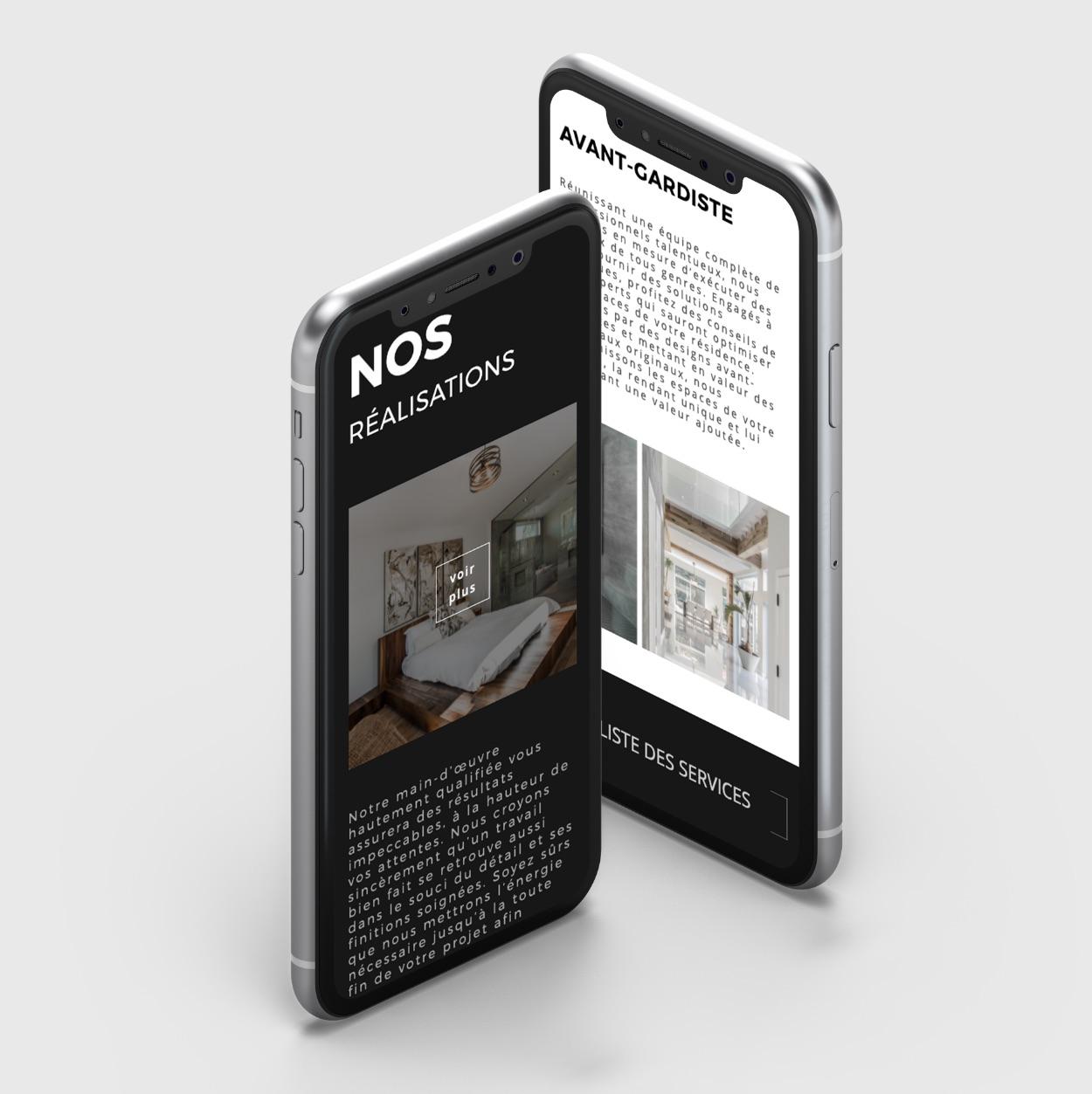 Intégration de contenu |Navigation adaptative sur mobile