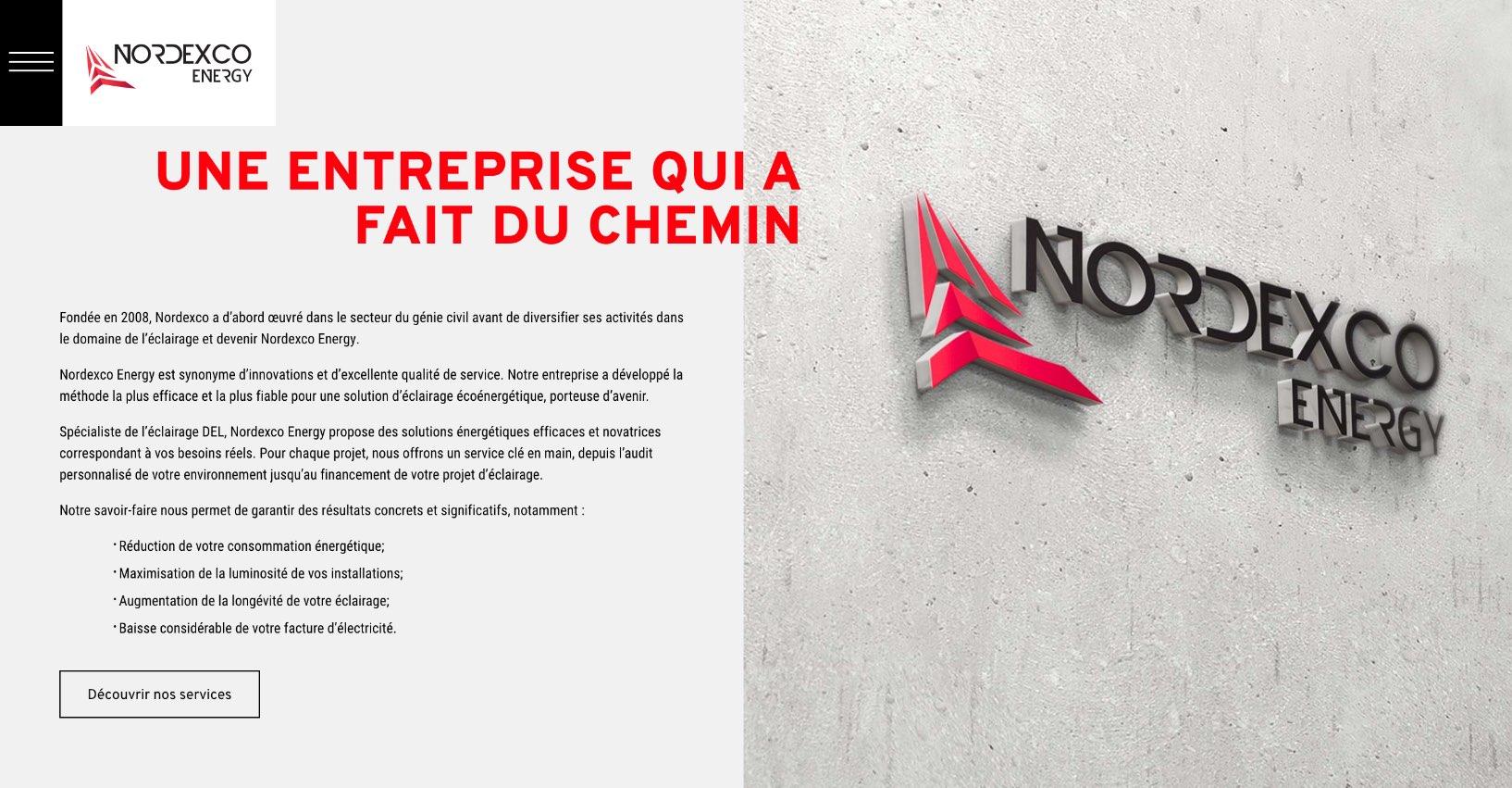 Nordexco |Projet Effet Web | Site Web | Conversion électrique