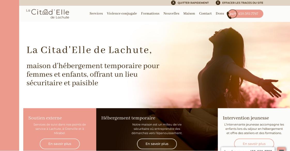 Nouveau site Web | Citad'Elle de Lachute | Image sur mesure