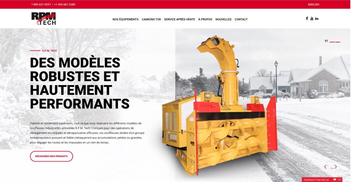 Nouveau site Web | RPM Tech | Stratégie numérique adaptée