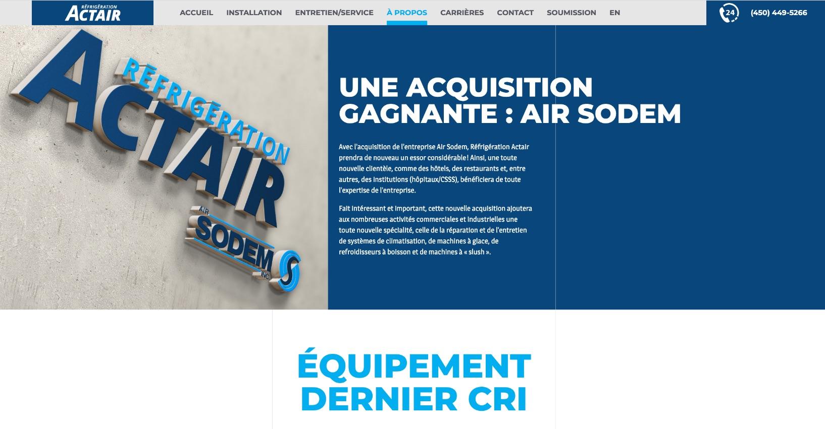 Nouvelle image numérique | Actair | Air Sodem | Offre de service
