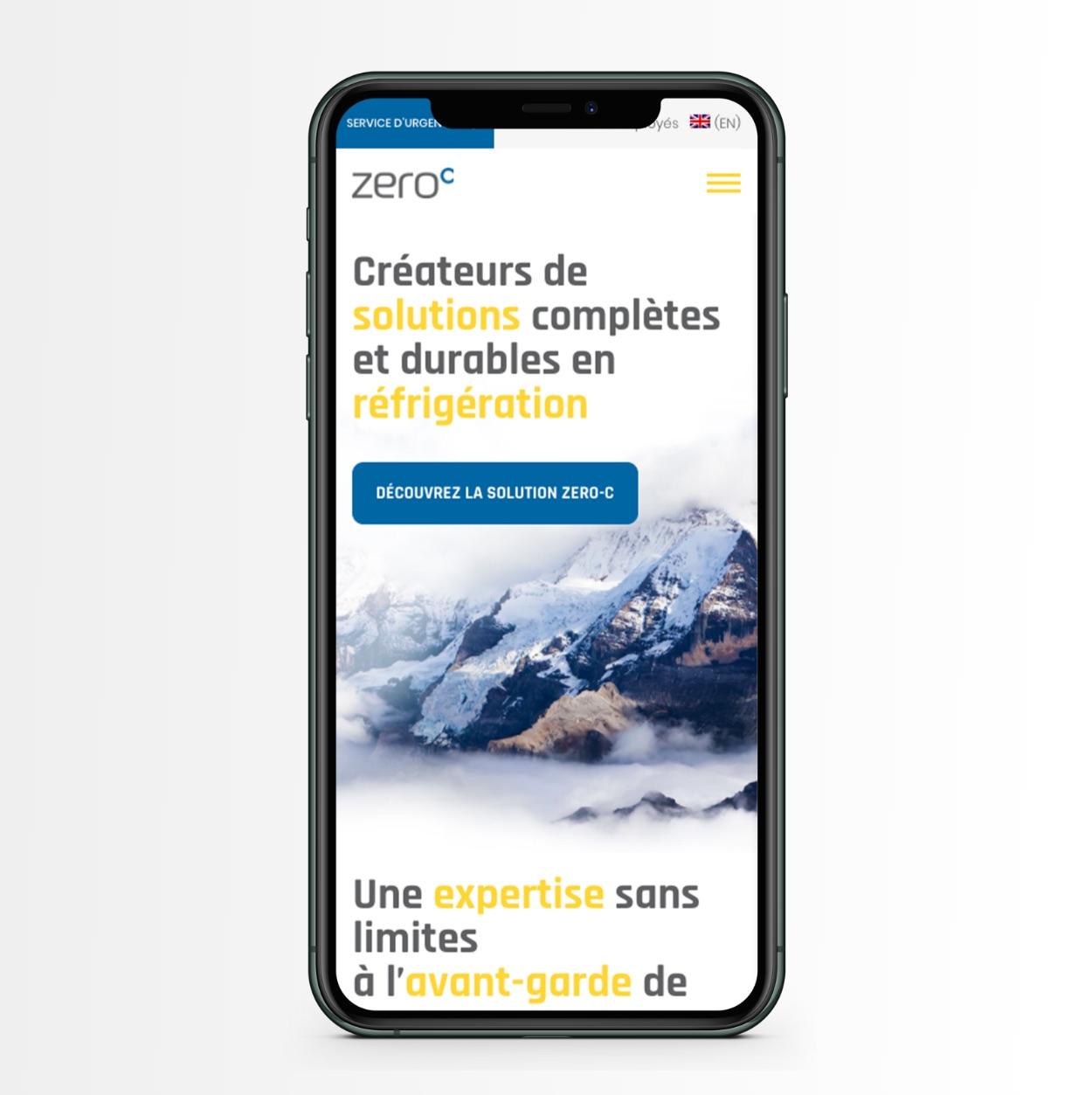 Optimisation d'affichage sur mobile | Site Web responsive
