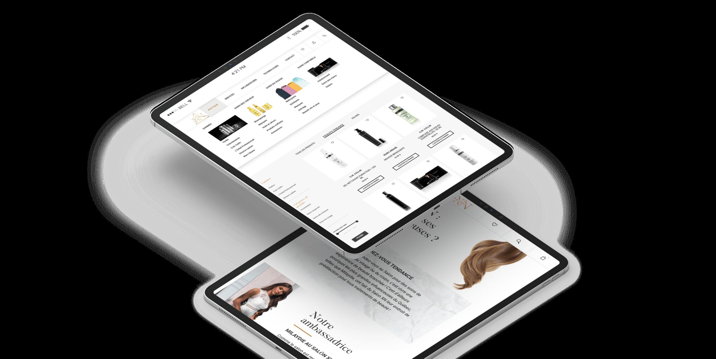Optimisation responsive | Expérience d'achats sur tablette