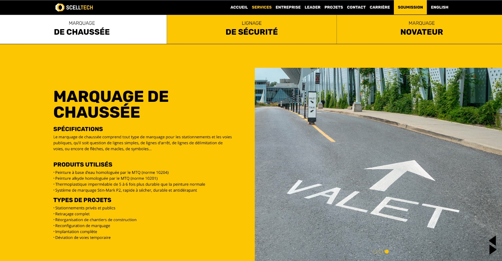 Organisation de contenu | Onglets | UX - IU | Design optimisé
