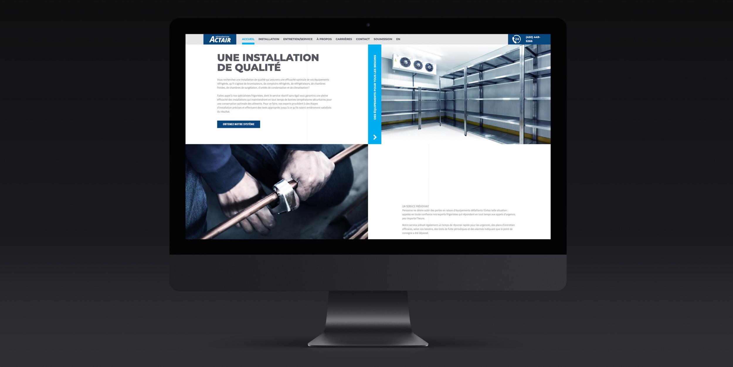 Présence numérique soutenue | Création de sites Web | Actair