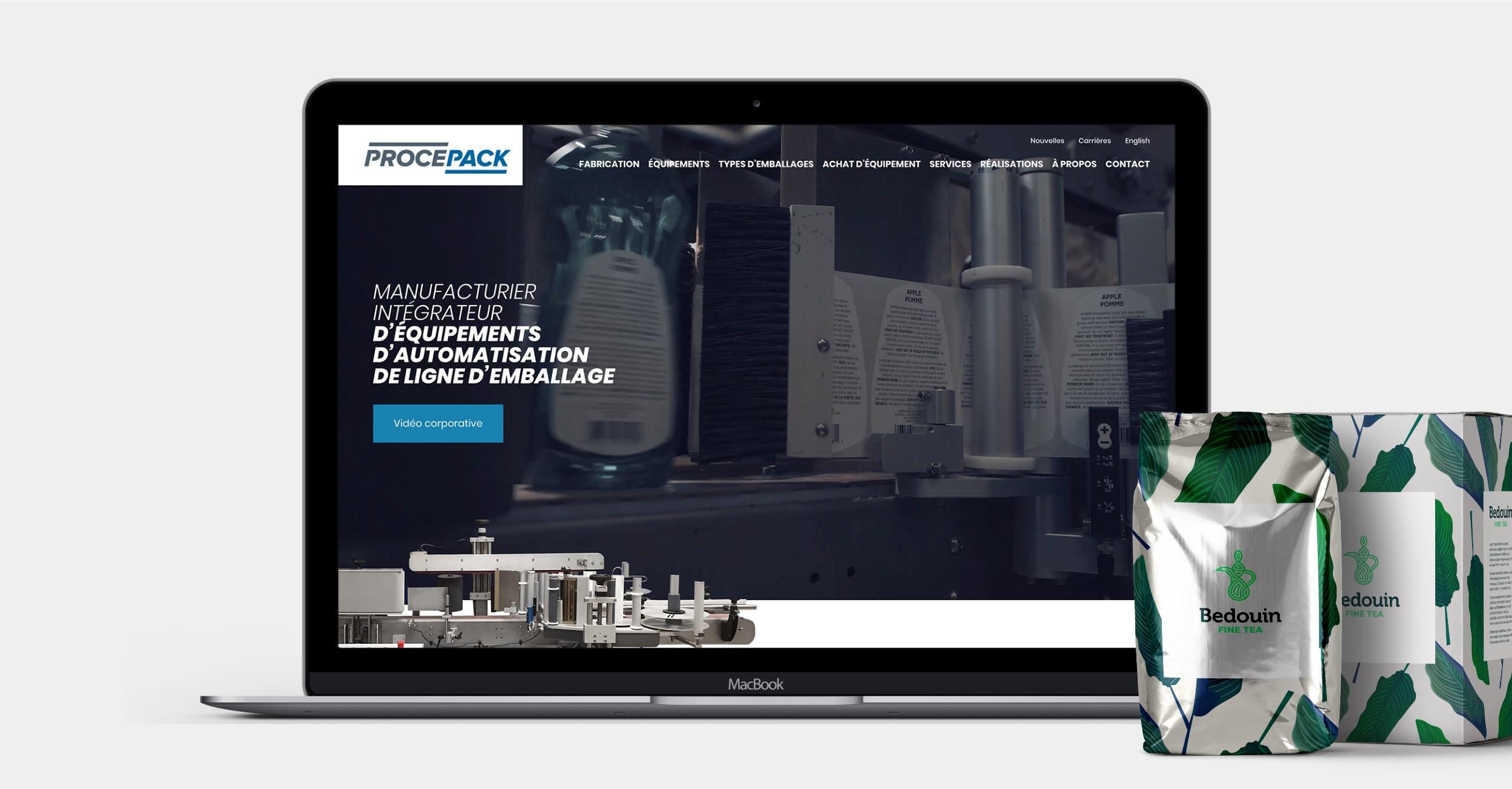 Réalisation Web | Projet fini | Site Web de manufacturier