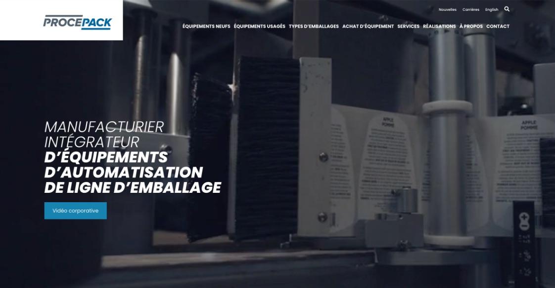 Refonte de site Web | Nouvelle image de marque | Procepack