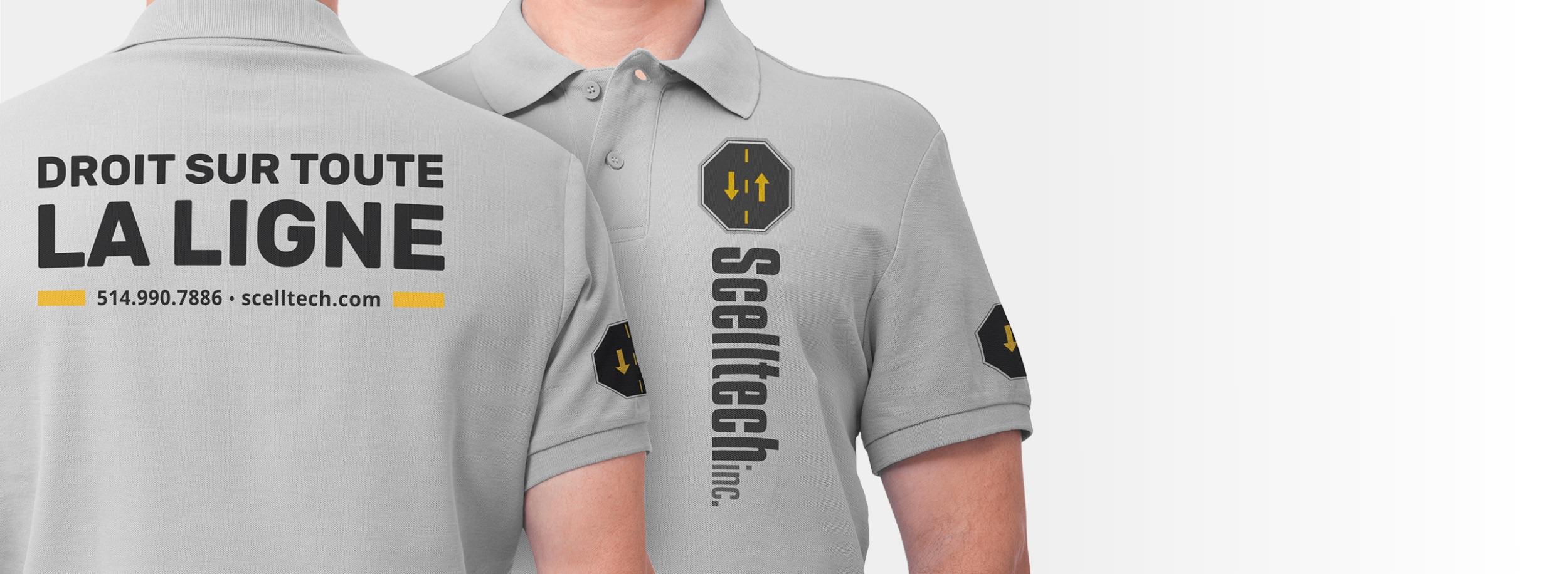 Services graphiques | Habillage de polos | Logo Scelltech