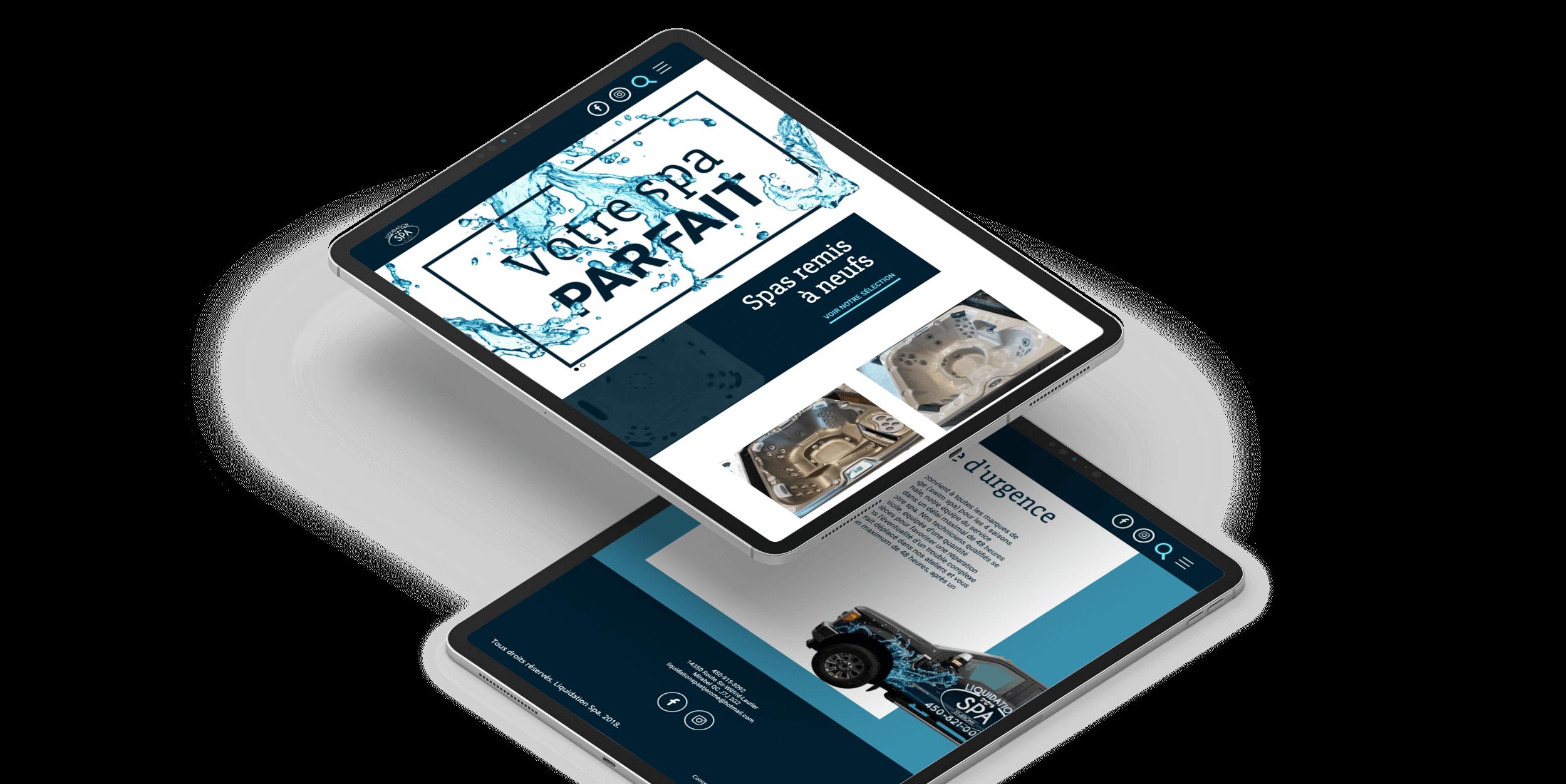 Site catalogue sur tablette | Plateforme de recherche en ligne