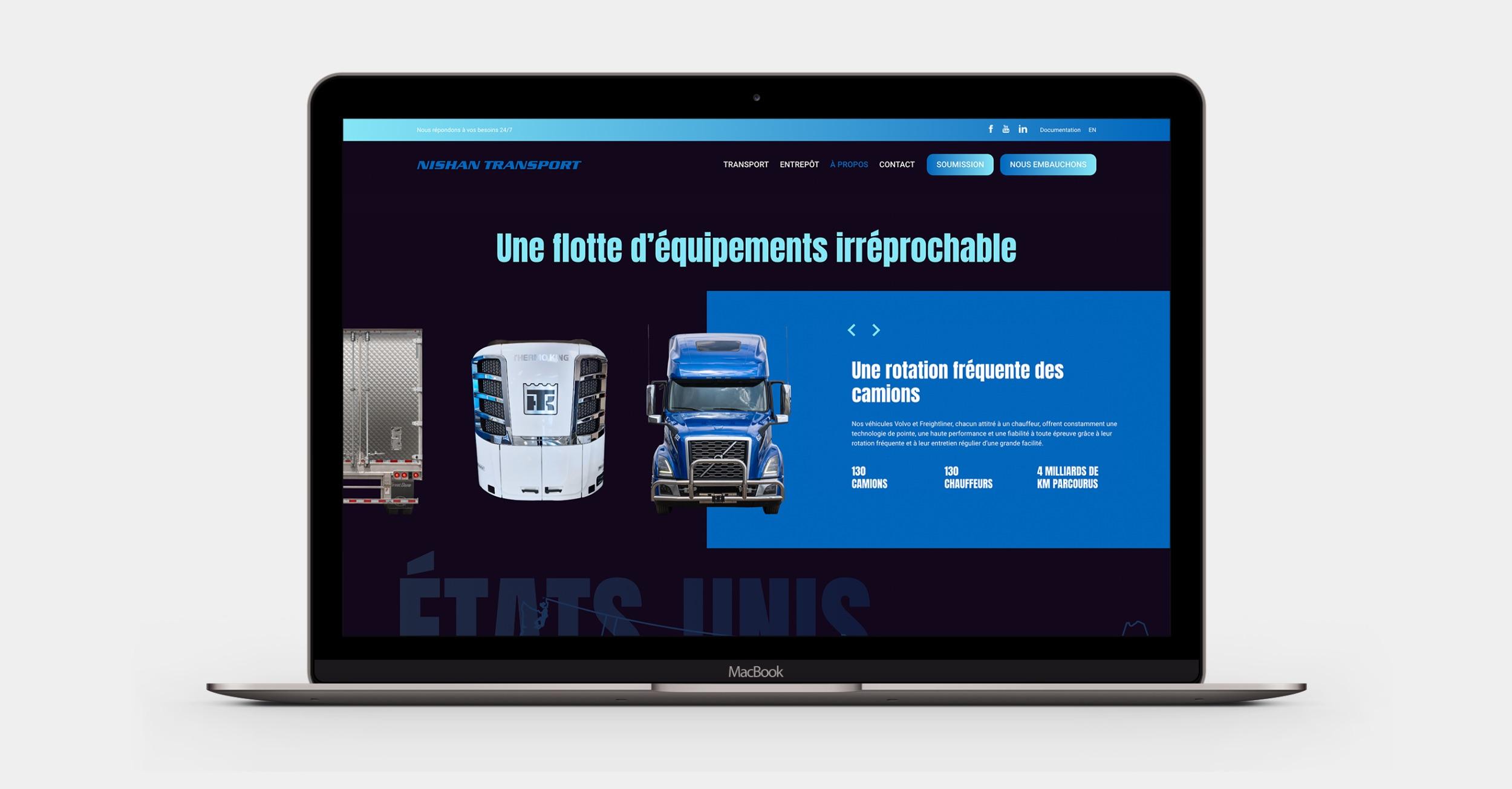 Site pour entreprise | Leader | Carrousel photo et texte