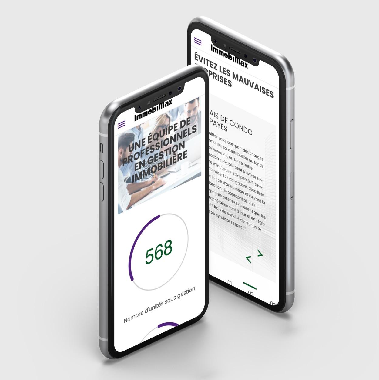 Site professionnel | Compteur interactif | Navigation mobile
