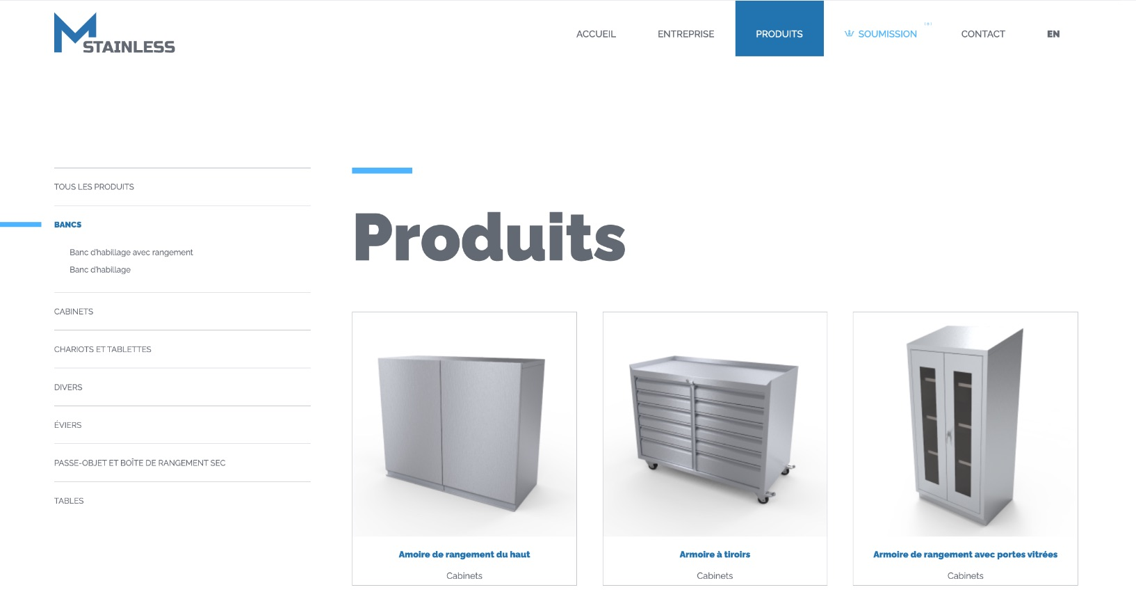 Site Web | Catalogue de produits en ligne | Design Effet Web