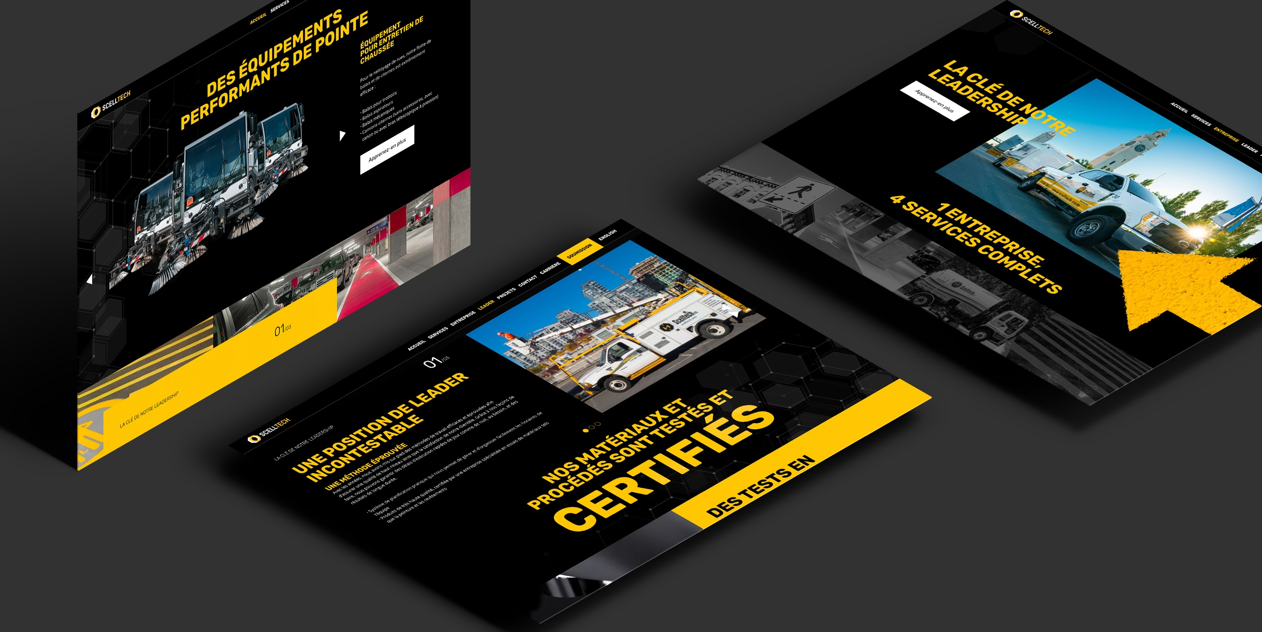 Site Web | Projet de design Web | Concept visuel solide