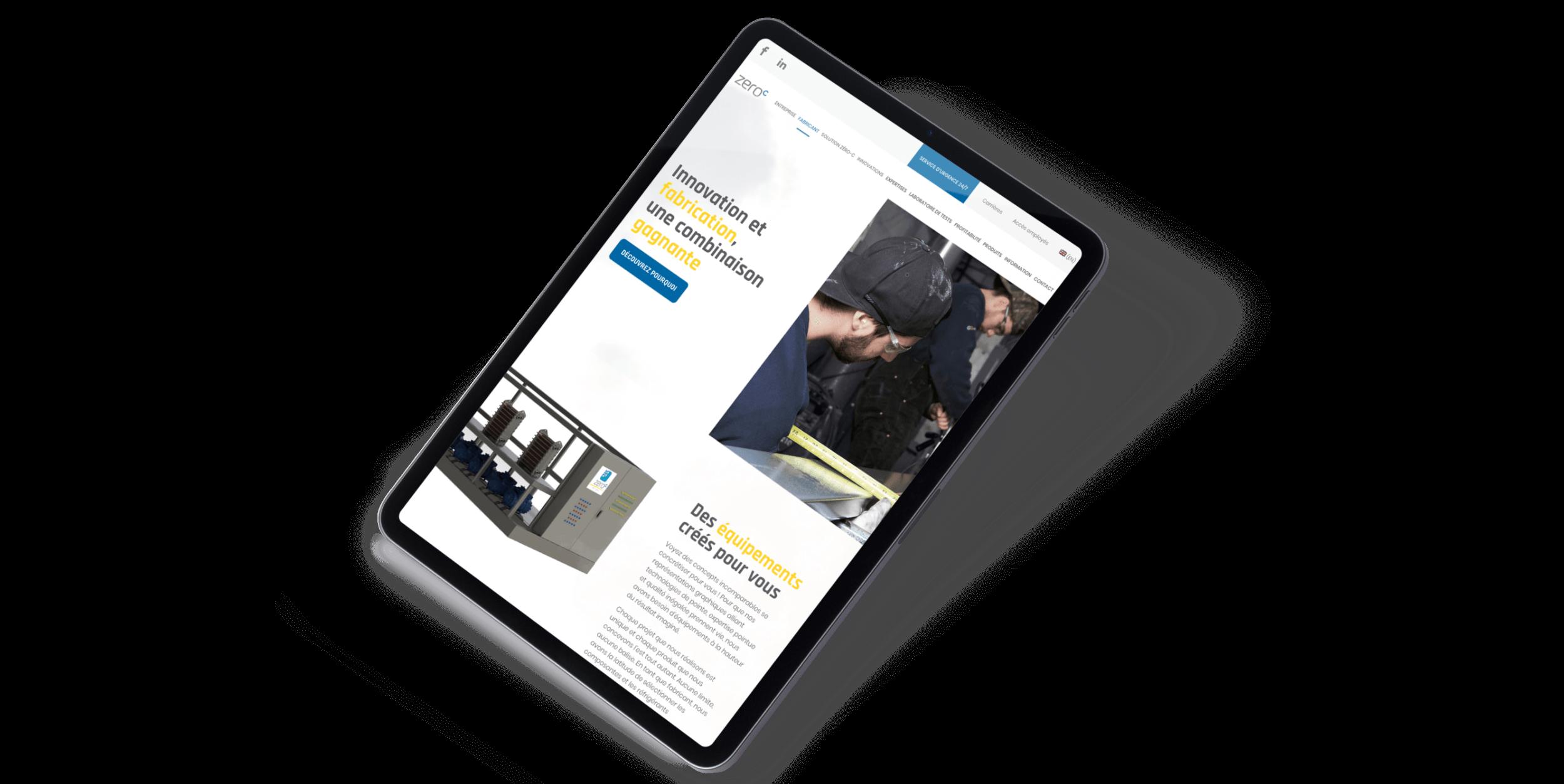 Site Web réactif | Développement Web responsive | iPad