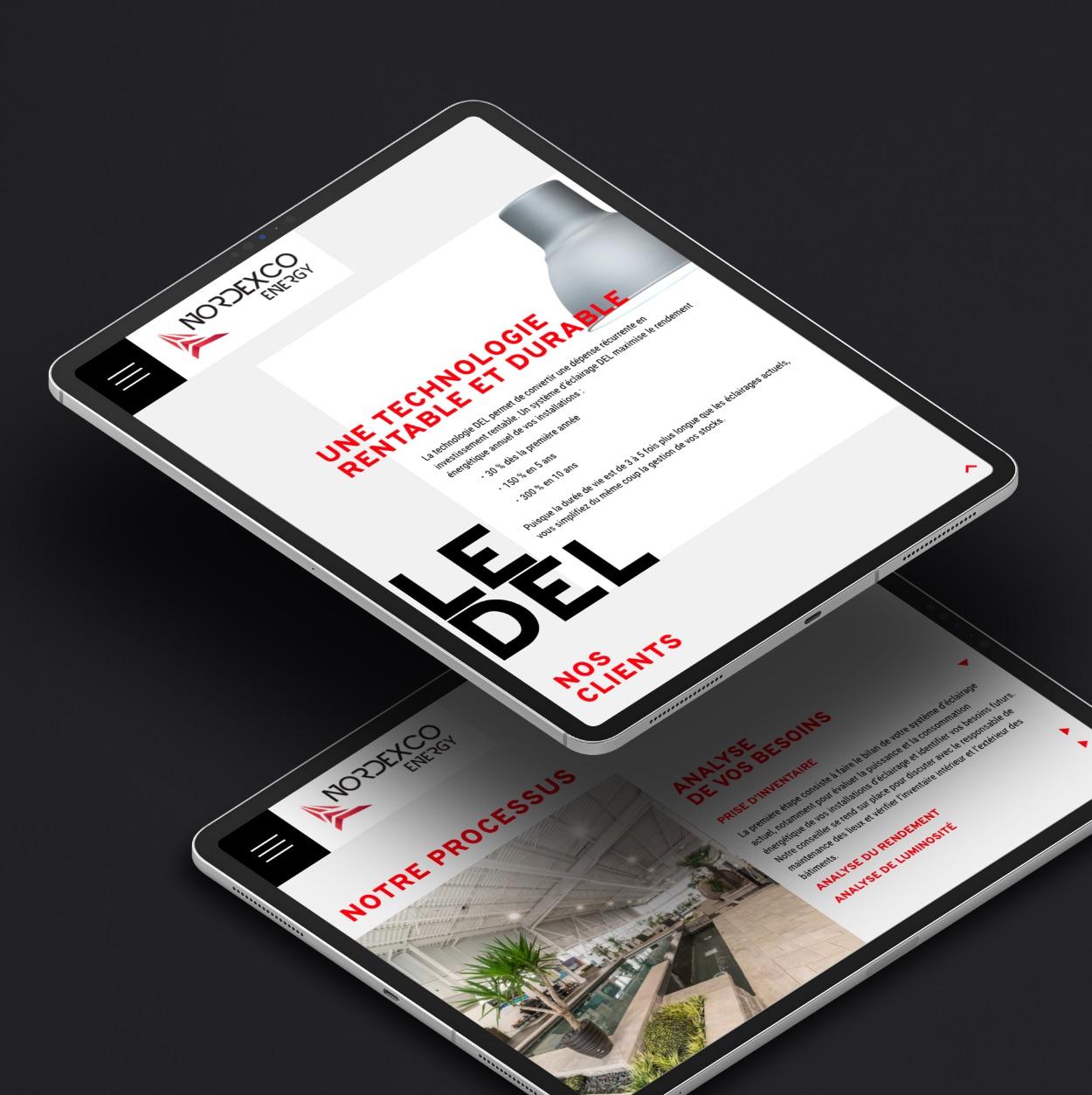 Technologie DEL | Conversion de visiteurs en clients |Site Web
