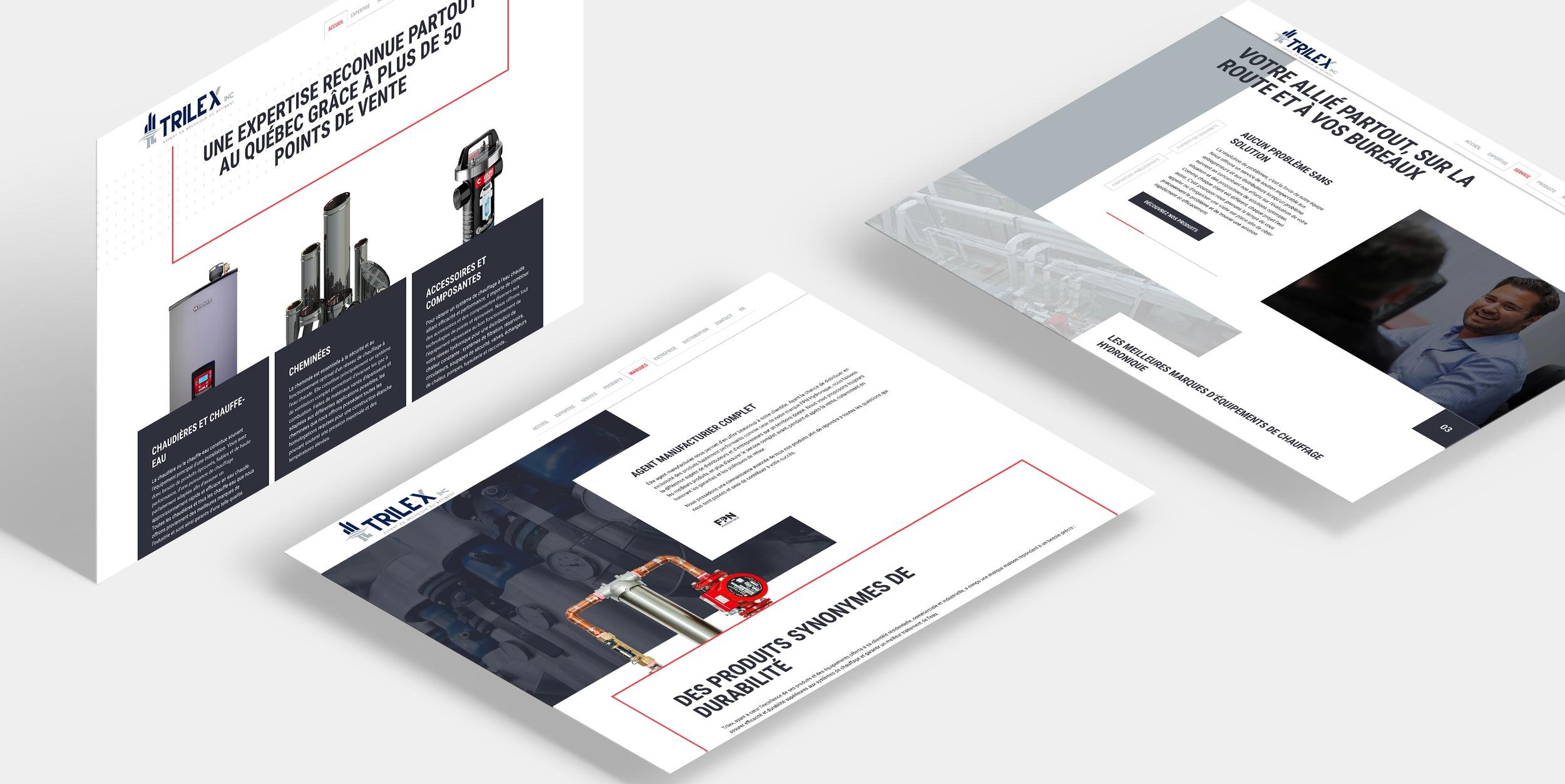 Image industrielle | Site Web Trilex | Design moderne