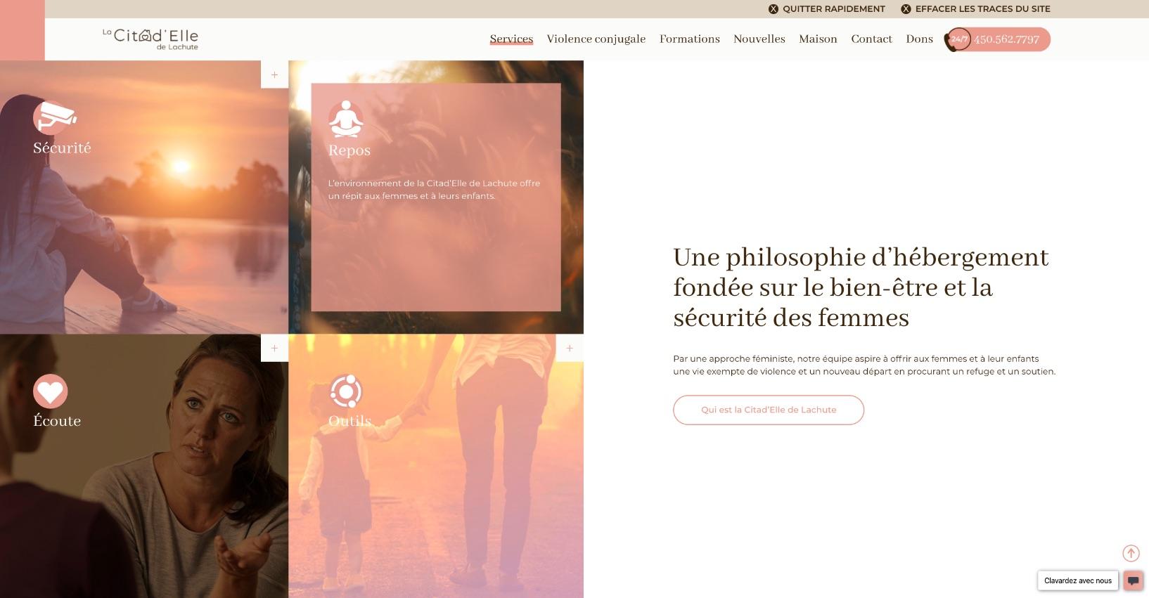 Source d'information en ligne   Stratégie visuelle   Hover