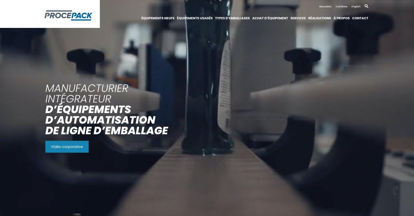 Stratégie Web | Intégration de séquence vidéo | Procepack
