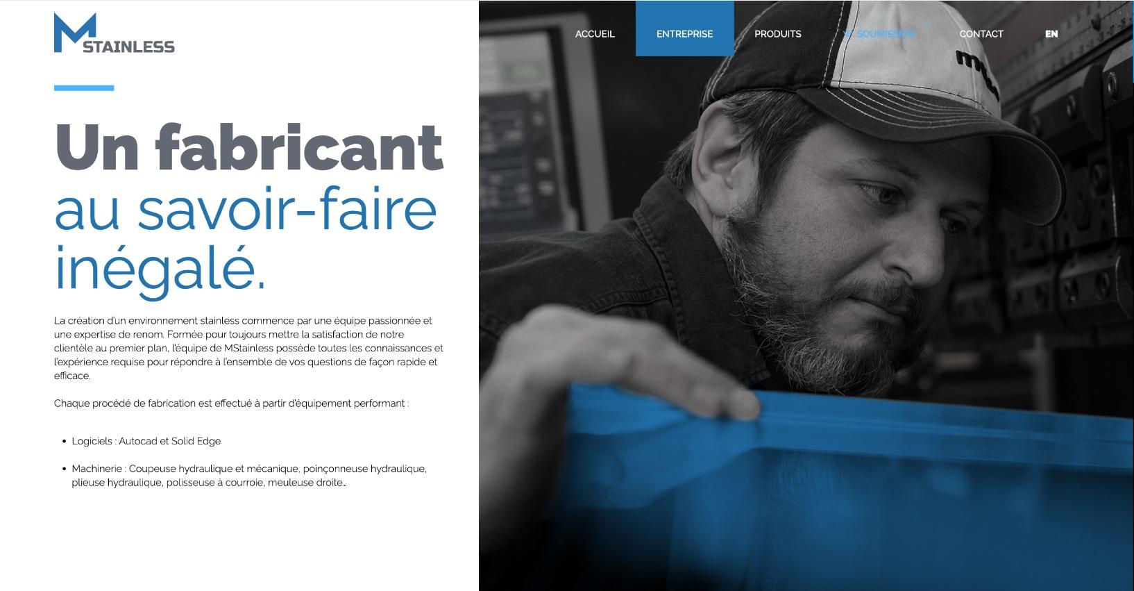 Structure de site Web sur mesure | Agence de design Montréal