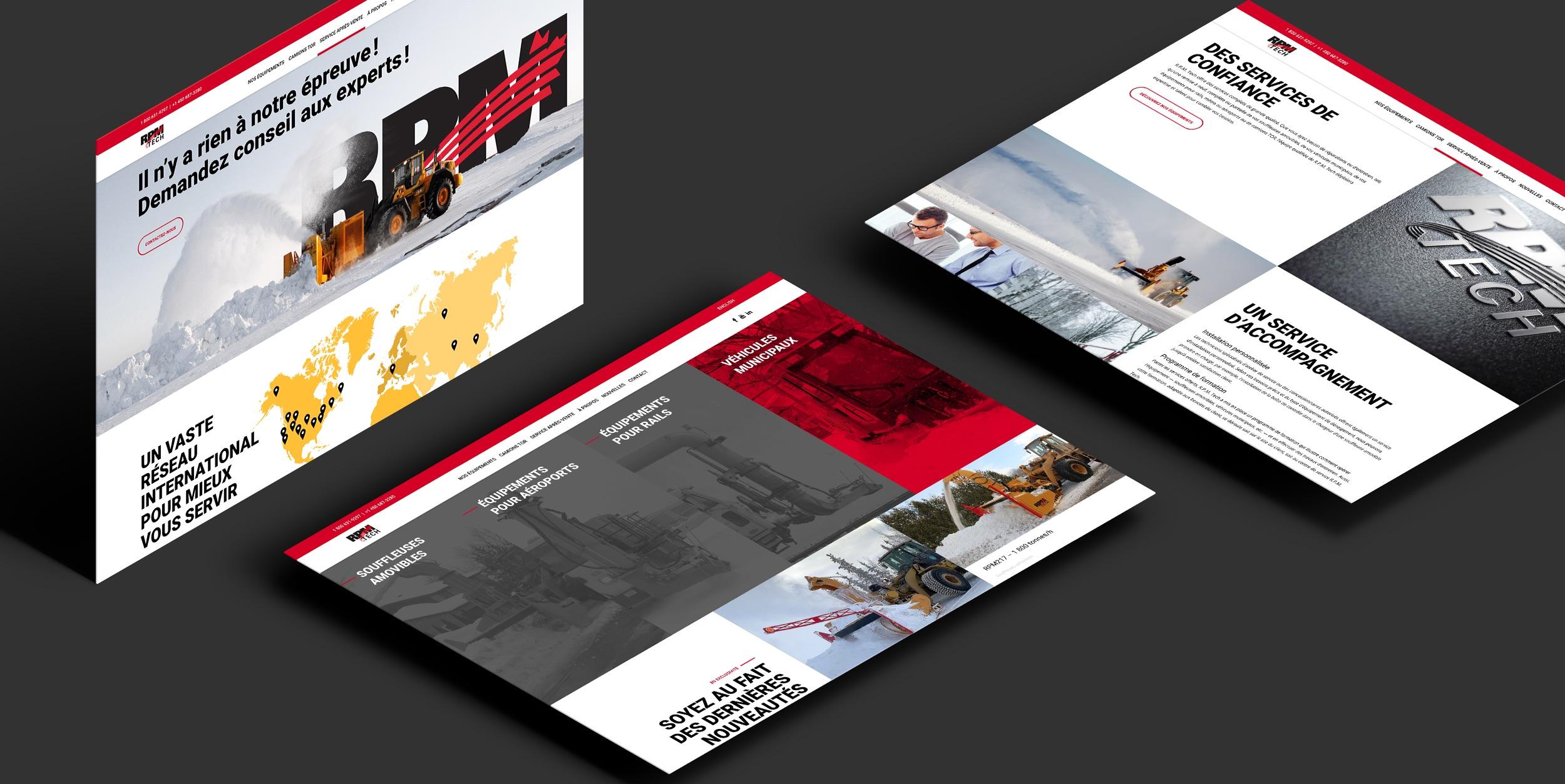 Structure visuelle internationale | Création de site Internet