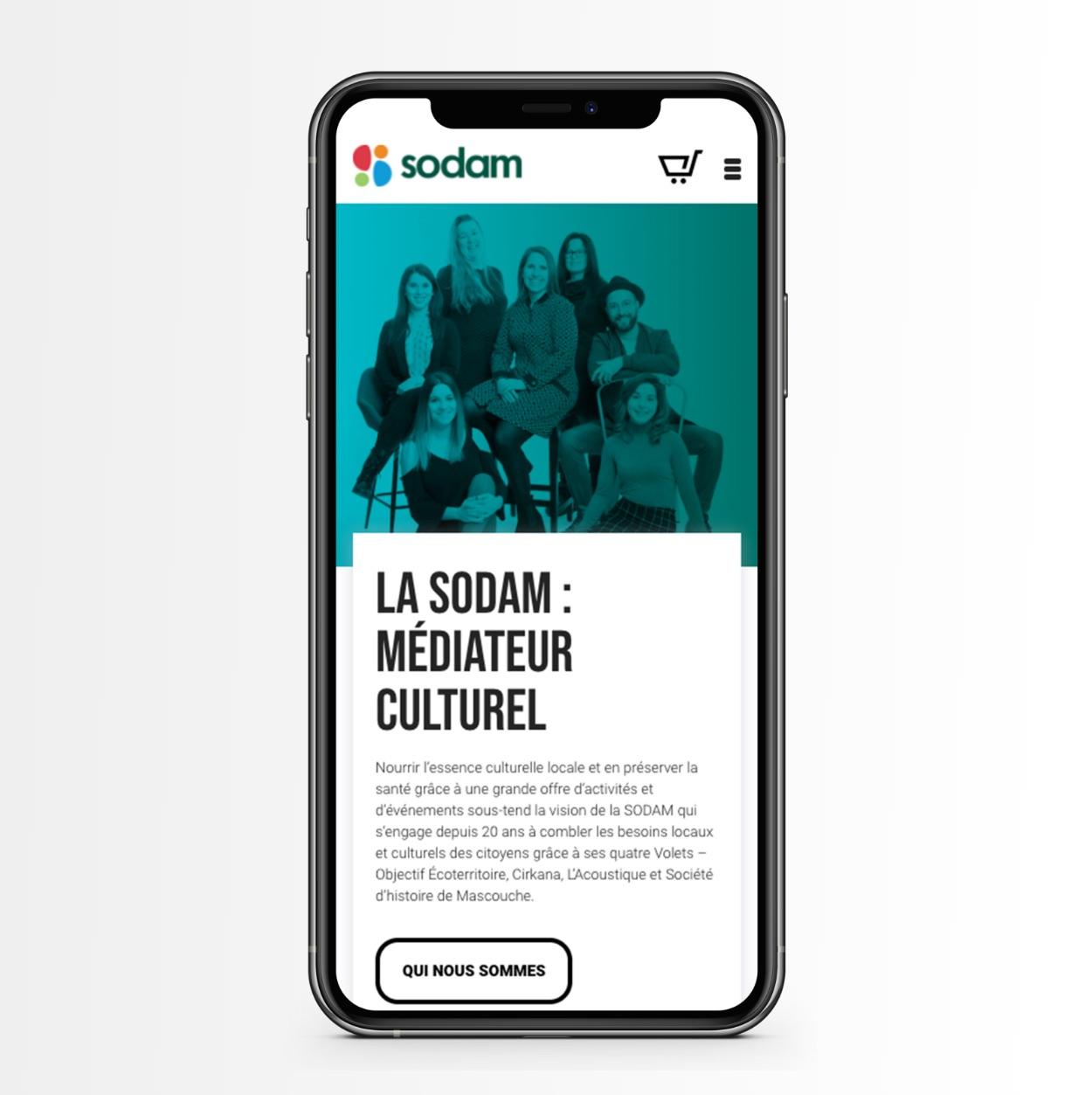 Visite sur appareil mobile | Design Web réactif | SODAM