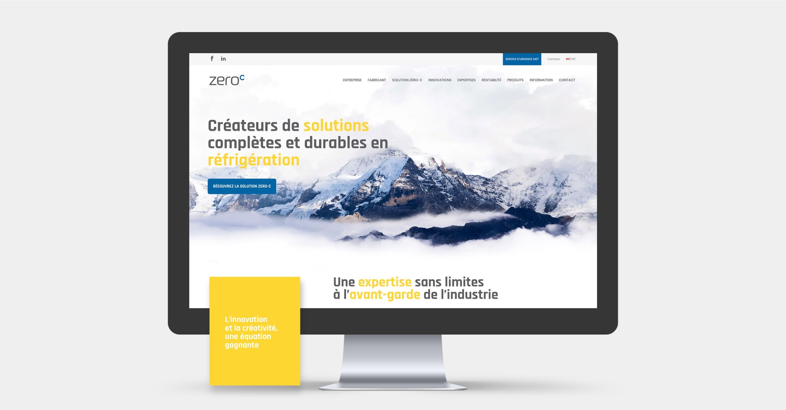 Projet Web complexe | Page de destination | Réalisation Effet Web