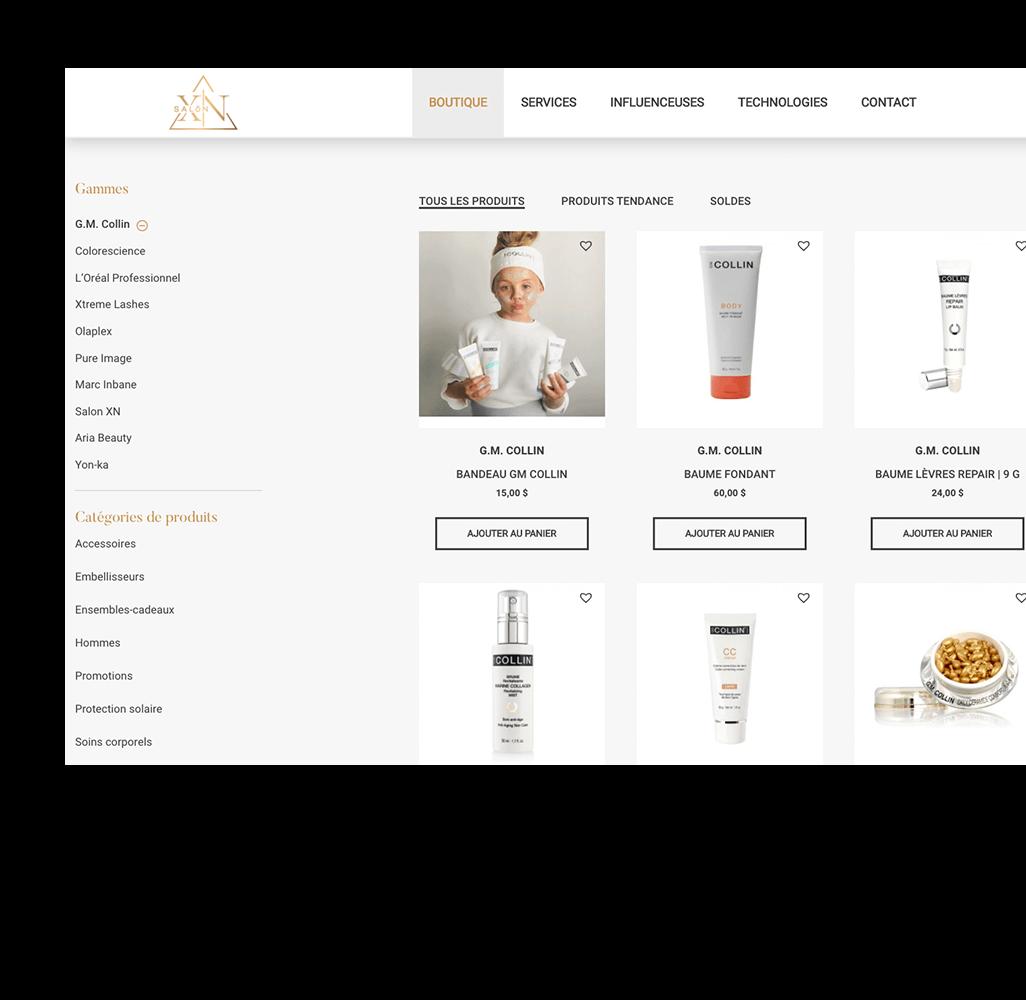 boutique-en-ligne-grille-de-produits-concept-web-transactionnel-salon-xn